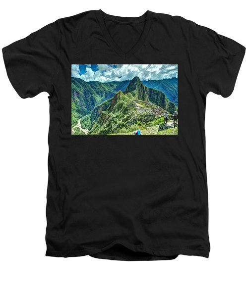 Palace In The Sky Men's V-Neck T-Shirt