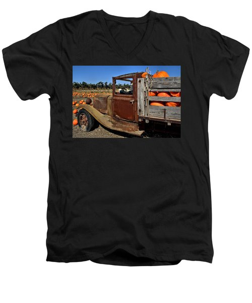 Men's V-Neck T-Shirt featuring the photograph Pale Rider by Michael Gordon