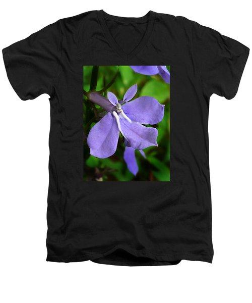 Wild Palespike Lobelia Men's V-Neck T-Shirt