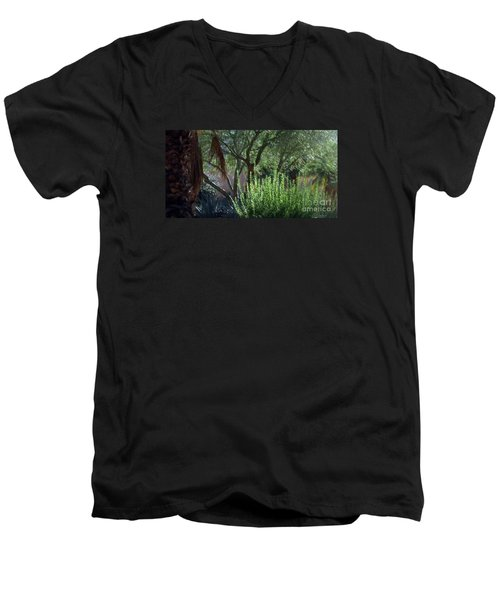Men's V-Neck T-Shirt featuring the photograph Palm Desert Museum Of Art by Sherri  Of Palm Springs
