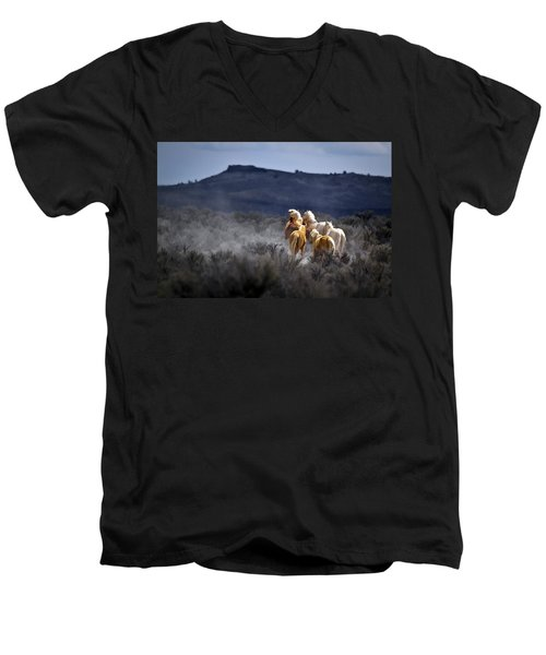 Palomino Buttes Band Men's V-Neck T-Shirt