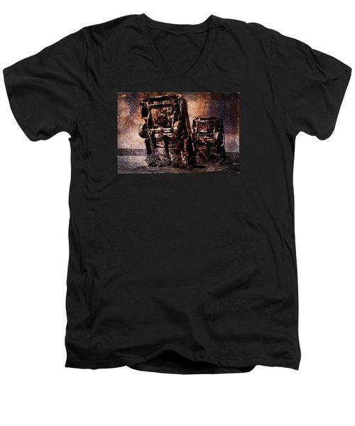 Panic Break Men's V-Neck T-Shirt by Randi Grace Nilsberg