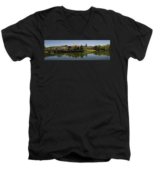 Panoramic Landscape Men's V-Neck T-Shirt