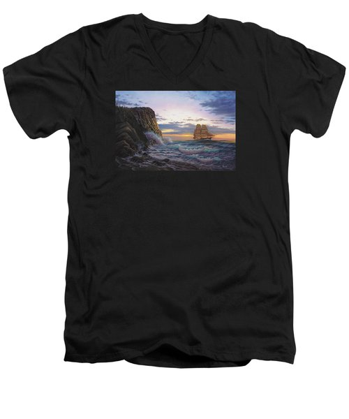 Paradise Cove And The Lightning  Men's V-Neck T-Shirt
