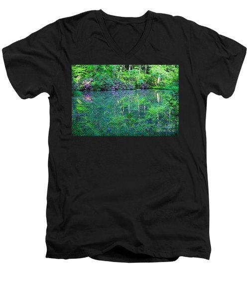 Paradise Men's V-Neck T-Shirt by Melissa Petrey