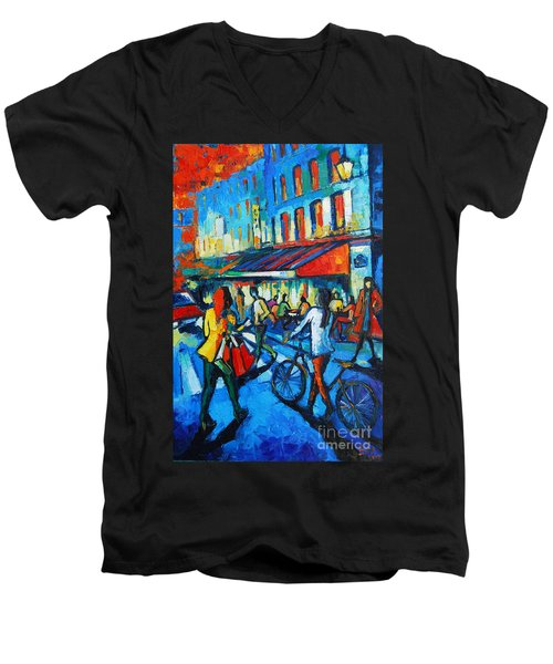 Parisian Cafe Men's V-Neck T-Shirt