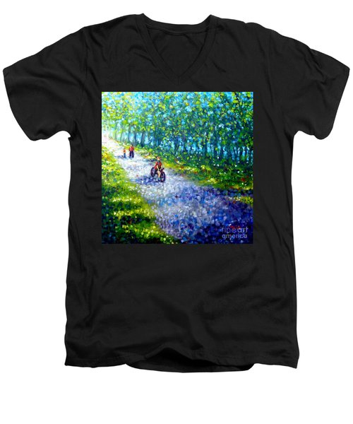 Park On St Helen Island - Montreal Men's V-Neck T-Shirt