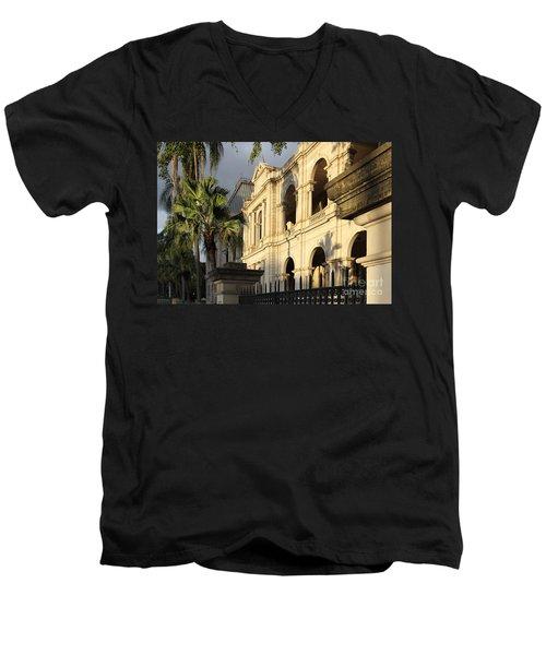 Parlament House In Brisbane Australia Men's V-Neck T-Shirt