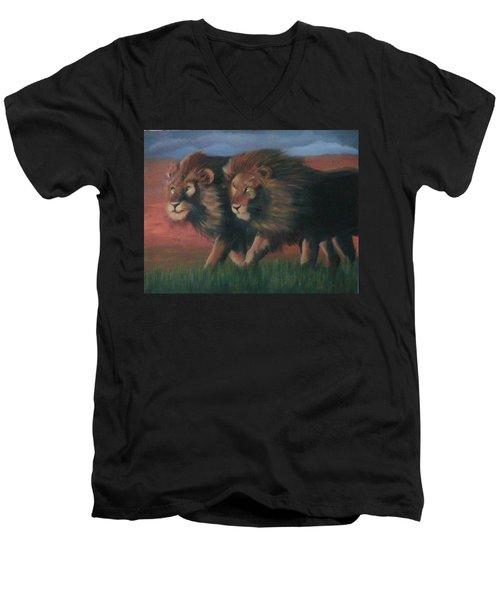 Partners Men's V-Neck T-Shirt by Catherine Swerediuk