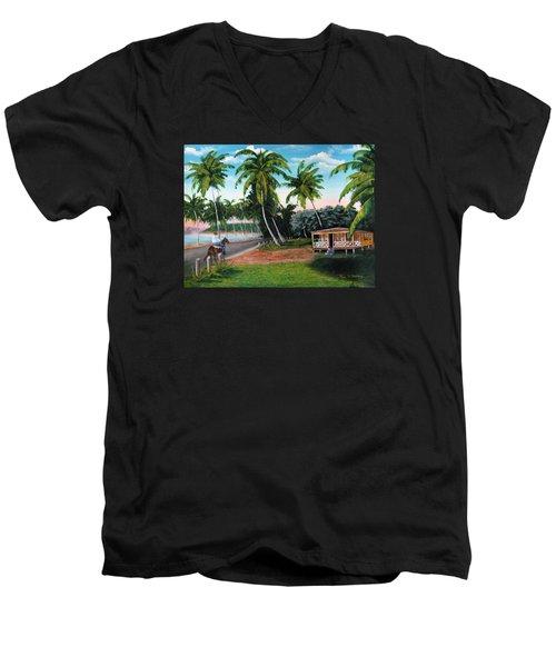 Paseo Por La Isla Men's V-Neck T-Shirt by Luis F Rodriguez