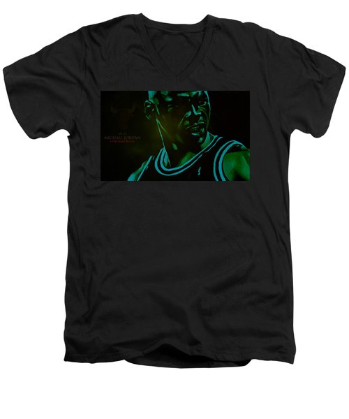 Men's V-Neck T-Shirt featuring the digital art Passion by Brian Reaves