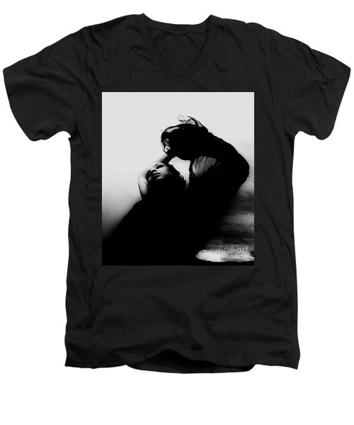 Men's V-Neck T-Shirt featuring the photograph Passion by Jessica Shelton