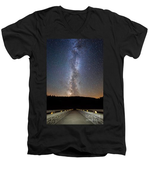 Path To Our Galaxy   Men's V-Neck T-Shirt