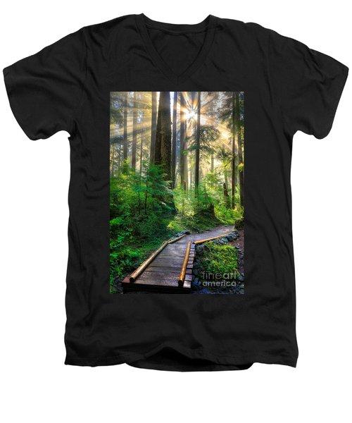 Pathway Into The Light Men's V-Neck T-Shirt