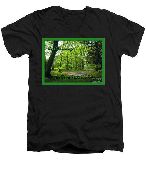 Pathway Saint Patrick's Day Greeting Men's V-Neck T-Shirt