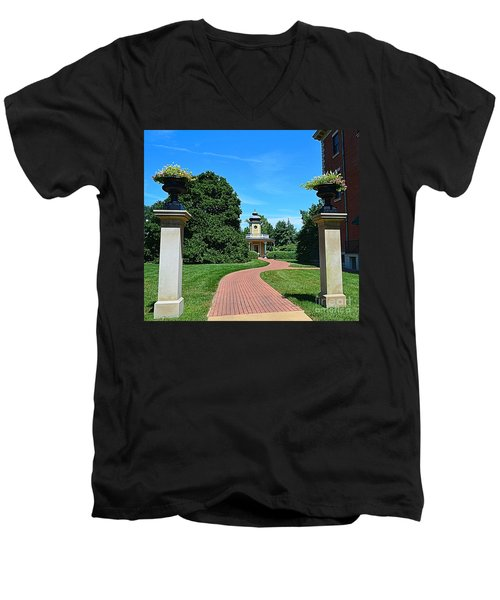 Pathway To The Observatory Men's V-Neck T-Shirt by Luther Fine Art
