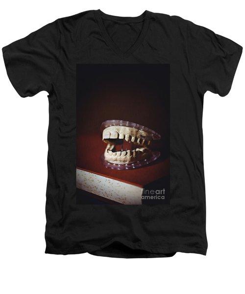 Men's V-Neck T-Shirt featuring the photograph Patient 910 by Trish Mistric
