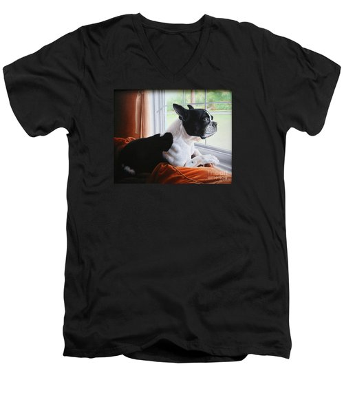 Patiently Waiting Men's V-Neck T-Shirt