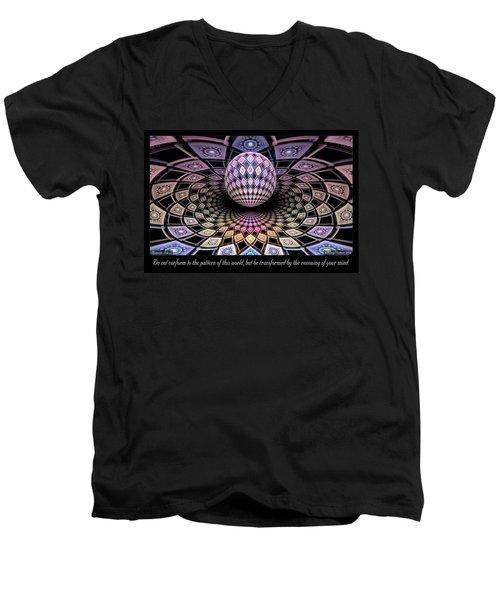 Pattern Men's V-Neck T-Shirt