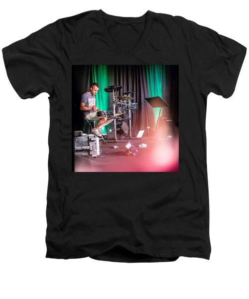 Paul Harvey, Drummer At Grace Men's V-Neck T-Shirt