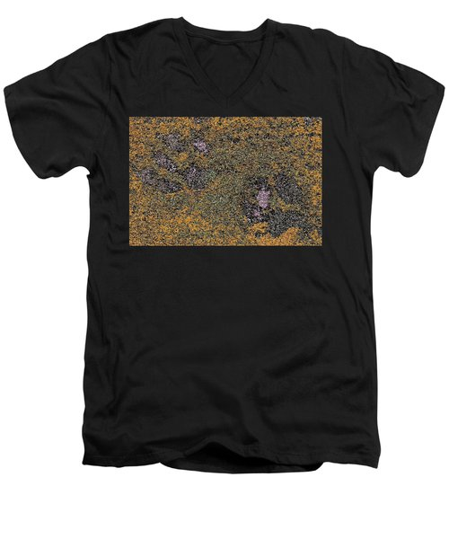 Paw Prints With A Tinge Of Lilac Men's V-Neck T-Shirt