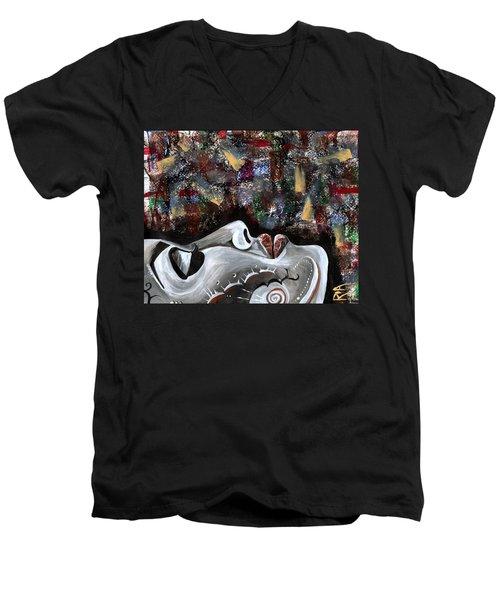 Peace Amidst Turmoil Men's V-Neck T-Shirt