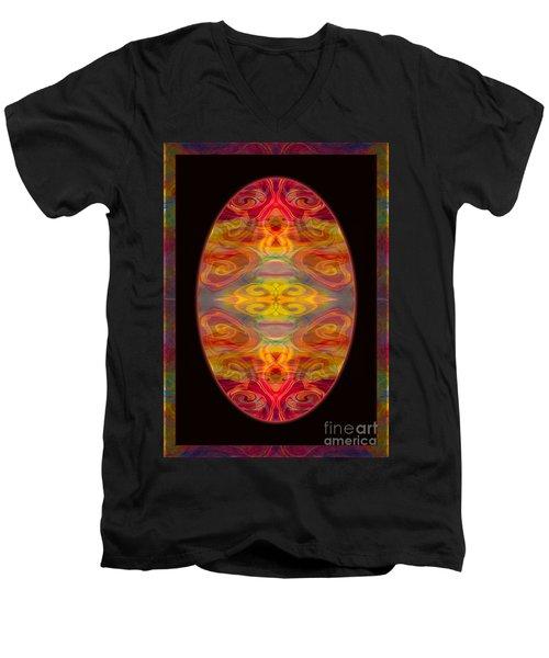 Peace And Harmony Abstract Healing Art Men's V-Neck T-Shirt