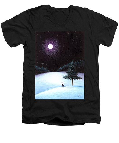 Peace Men's V-Neck T-Shirt by Danielle R T Haney