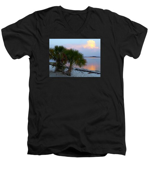 Peaceful Beach Sunrise Men's V-Neck T-Shirt