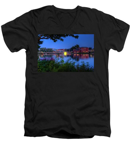 Peaceful River Men's V-Neck T-Shirt