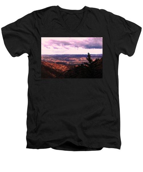 Men's V-Neck T-Shirt featuring the photograph Peaceful Valley by Matt Harang