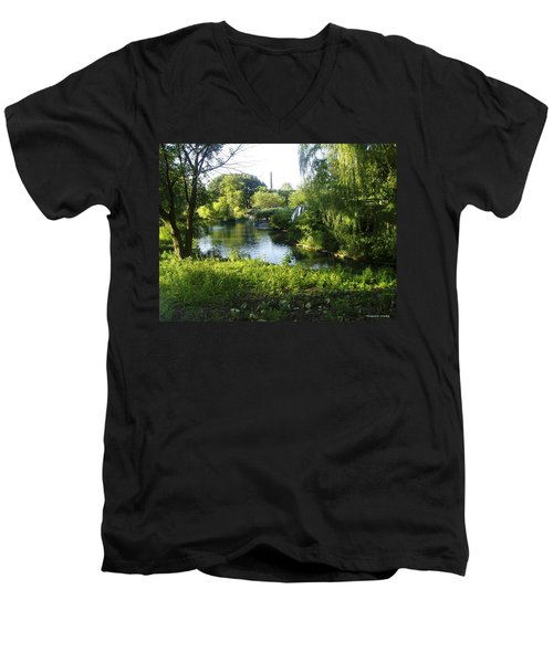 Peaceful Waters Men's V-Neck T-Shirt by Verana Stark
