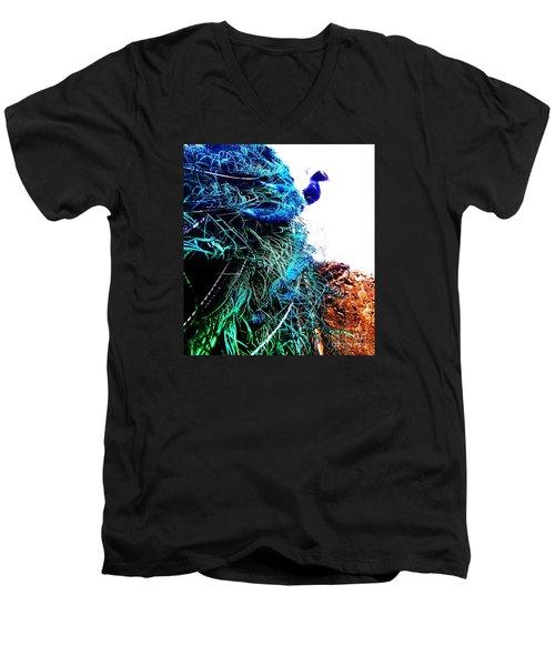 Peacock Portrait Men's V-Neck T-Shirt