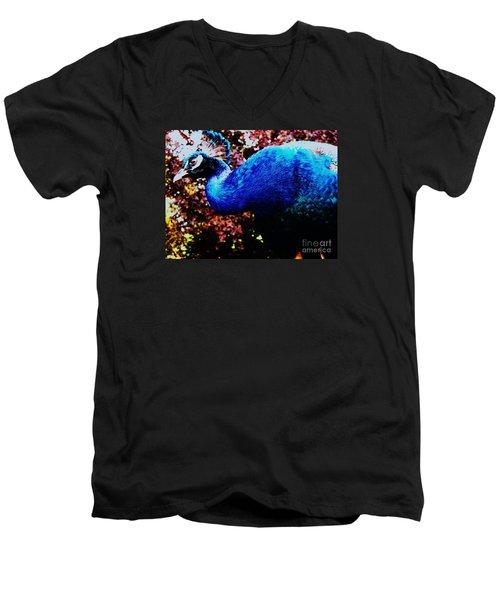 Peacock Profile Men's V-Neck T-Shirt