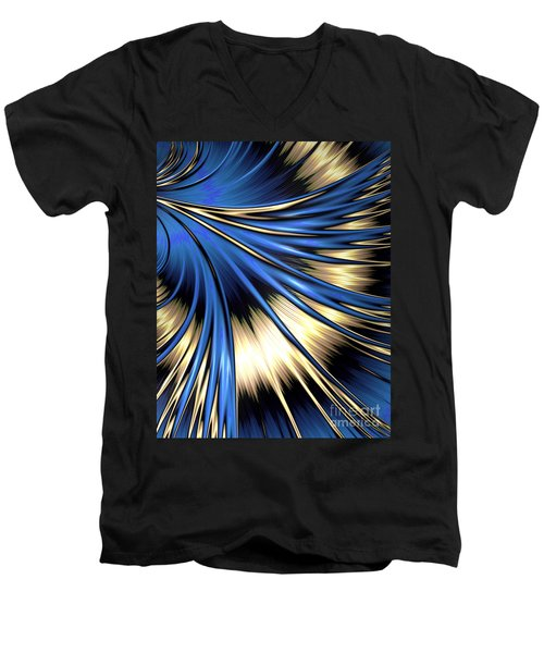 Peacock Tail Feather Men's V-Neck T-Shirt