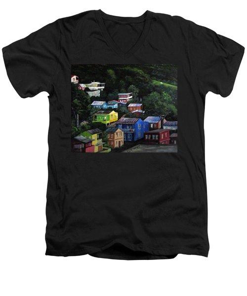 Pedazito De Yauco Cerro Men's V-Neck T-Shirt