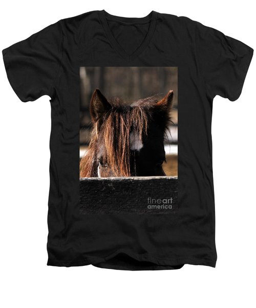 Peek-a-boo Pony Men's V-Neck T-Shirt