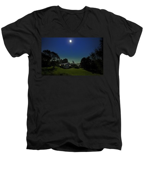 Men's V-Neck T-Shirt featuring the photograph Pegasus And Moon by Greg Reed