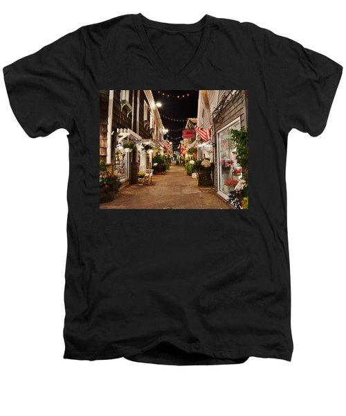 Penny Lane At Night - Rehoboth Beach Delaware Men's V-Neck T-Shirt