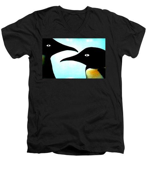 Penquin Love Men's V-Neck T-Shirt