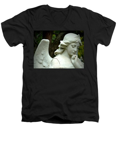 Pensive  Men's V-Neck T-Shirt