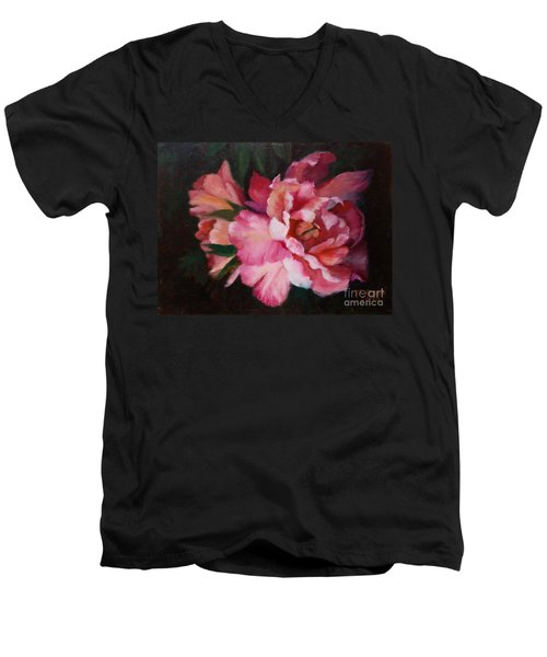 Peonies No 8 The Painting Men's V-Neck T-Shirt