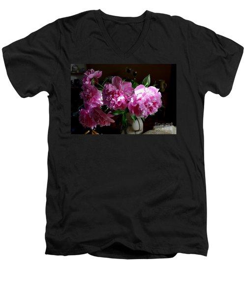 Peonies2 Men's V-Neck T-Shirt