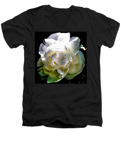 Peony In Morning Sun Men's V-Neck T-Shirt