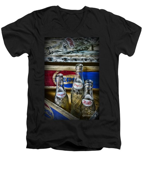 Pepsi Bottles And Crates Men's V-Neck T-Shirt