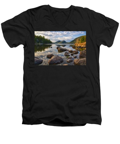 Men's V-Neck T-Shirt featuring the photograph Perfect Pond by Kristopher Schoenleber