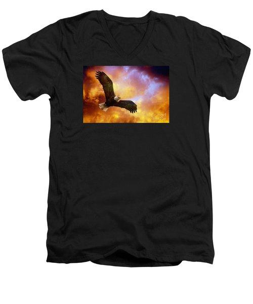 Perseverance Men's V-Neck T-Shirt by Lois Bryan