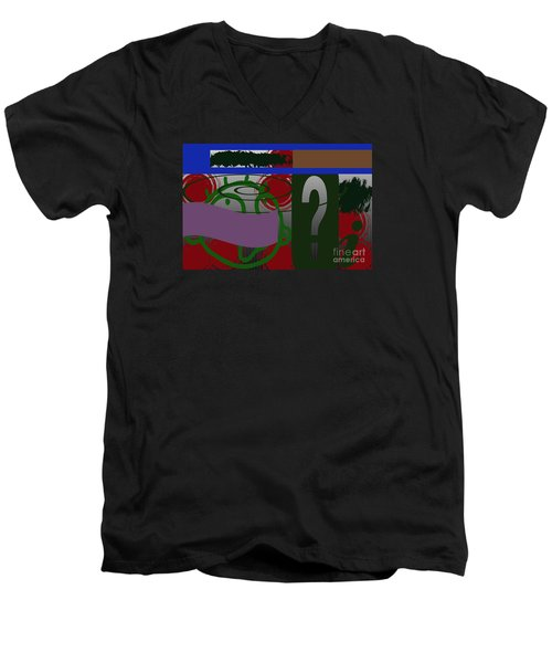 Men's V-Neck T-Shirt featuring the photograph Persistence by Tina M Wenger