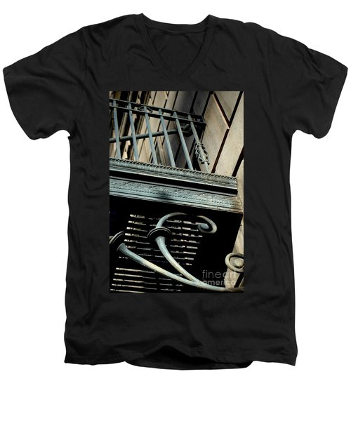 Men's V-Neck T-Shirt featuring the photograph Perspective by Christiane Hellner-OBrien