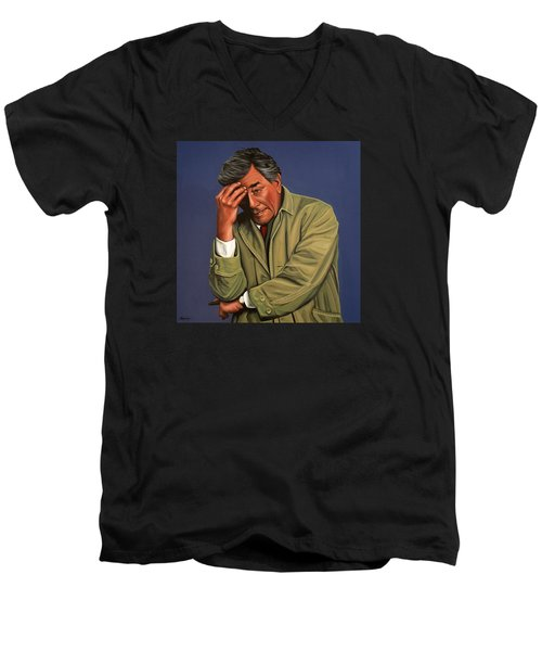 Peter Falk As Columbo Men's V-Neck T-Shirt
